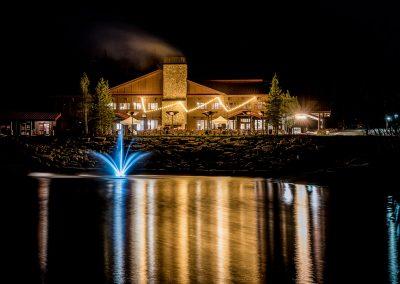 elk mountain resort at night